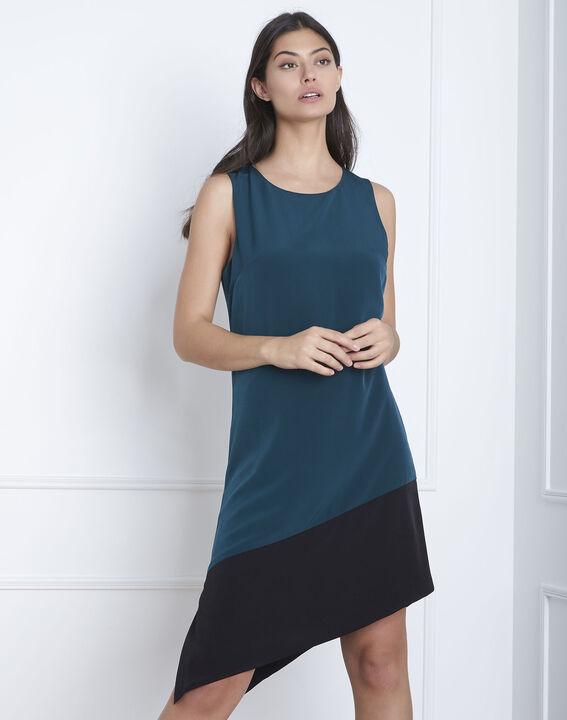 Asymmetrisches Kleid in Dunkelgrün Horline (1) - Maison 123