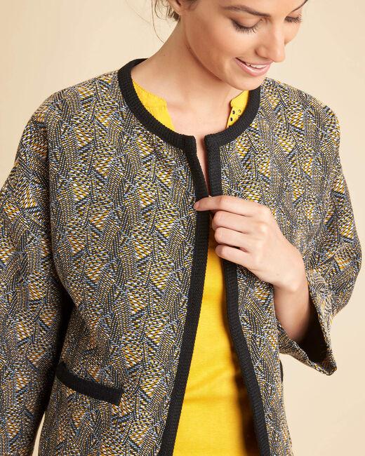 Cajin ethnic printed blouse in camel (2) - 1-2-3