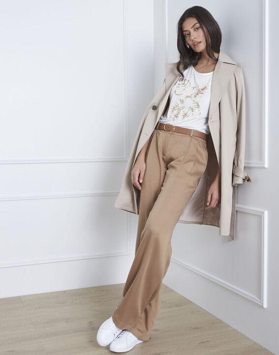 Pantalon beige large Giovanni (1) - Maison 123