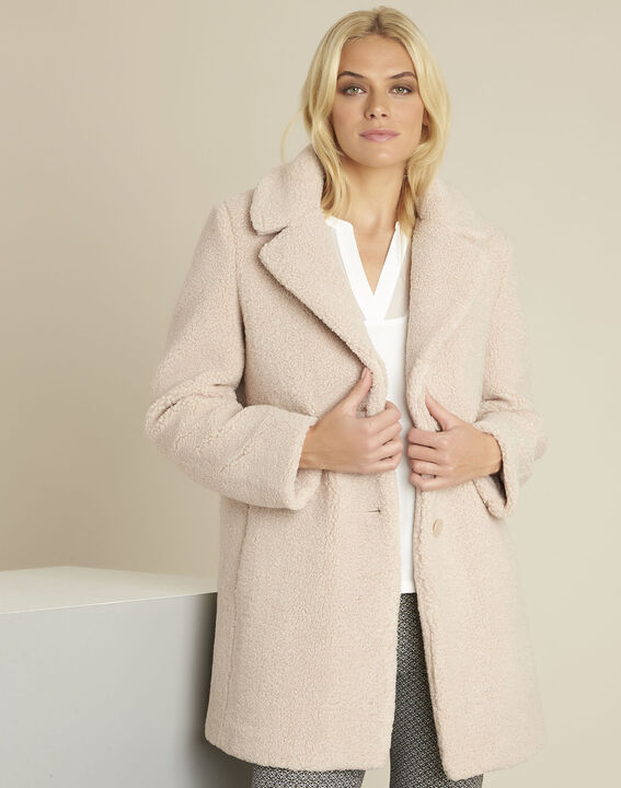 Elvire nude coat with boiled wool look (1) - 1-2-3
