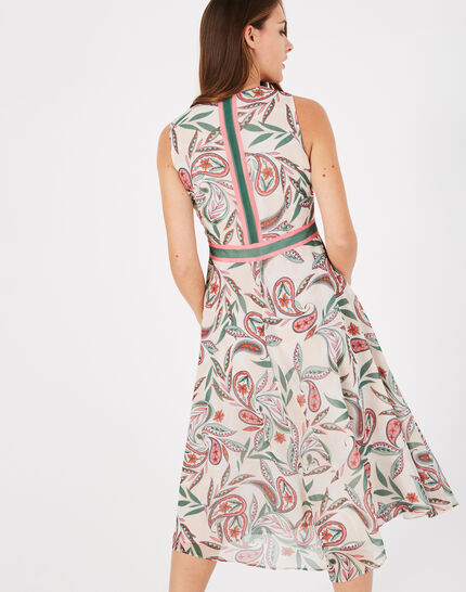 Adèle nude long dress with a stunning print (3) - 1-2-3