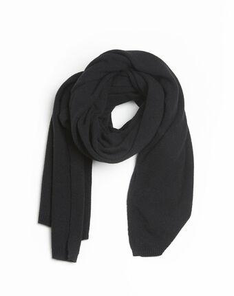 Echarpe noire en cachemire felicia noir.