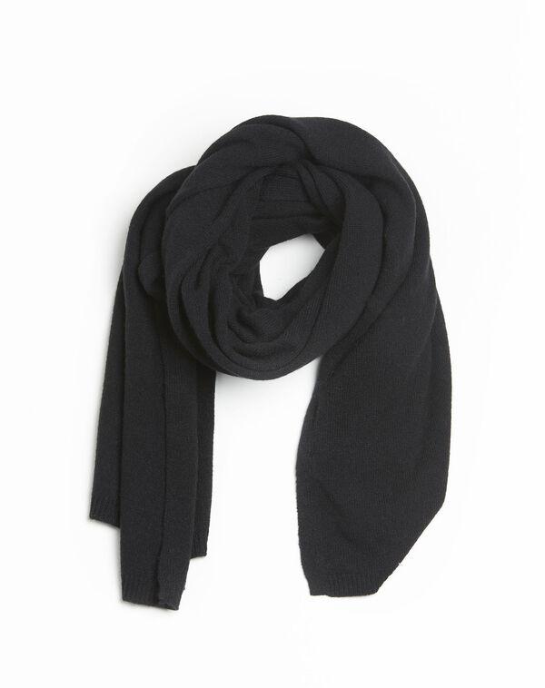 Echarpe noire en cachemire Felicia (1) - 1-2-3