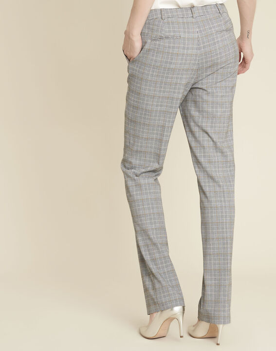 Natura grey trousers with Prince of Wales design (4) - 1-2-3