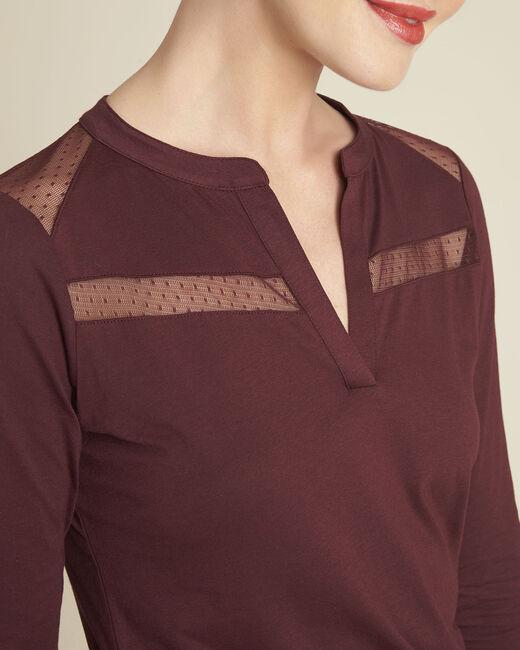 Tee-shirt bordeaux dentelle Guyane (2) - 1-2-3