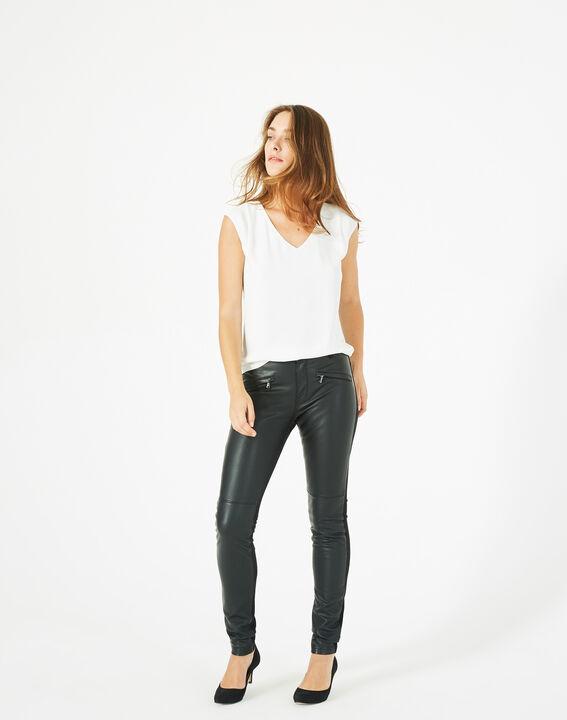 Pantalon noir slim milano faux cuir Kassy PhotoZ   1-2-3