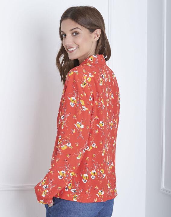 Veste rouge imprimé fleur Farley (4) - Maison 123