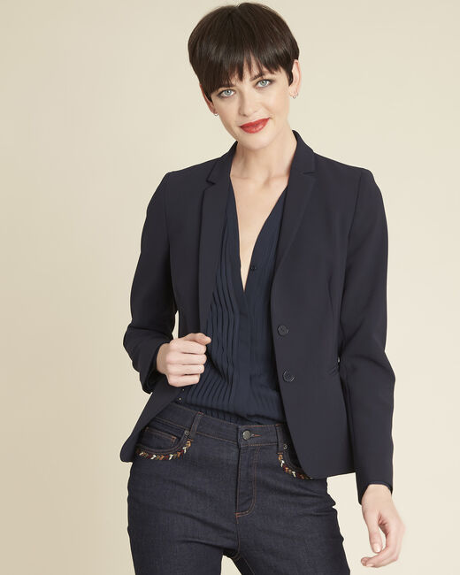 Eve navy microfibre jacket (2) - 1-2-3
