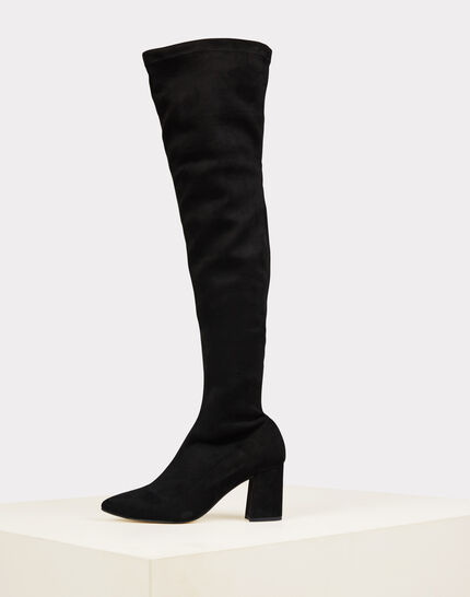 Nicky black leather heeled boots (1) - 1-2-3