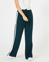 Pantalon vert foret fluide bande côté kamelia foret.