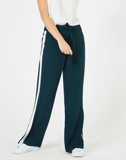 Pantalon vert foret fluide bande côté Kamelia PhotoZ | 1-2-3