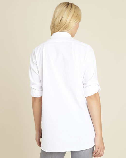 Chemise blanche longue en coton Colin (2) - 1-2-3