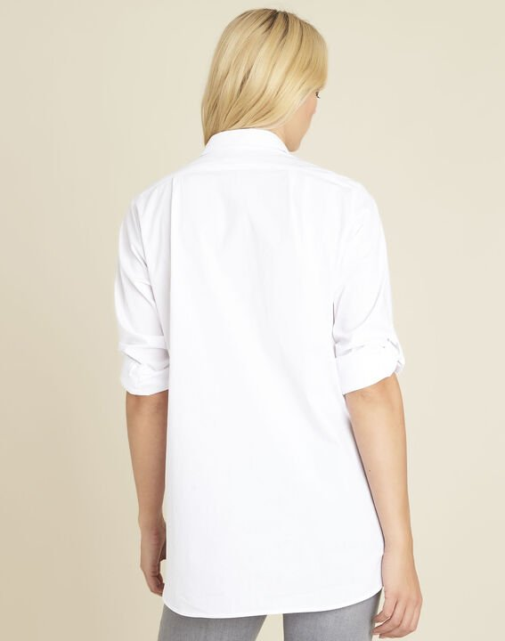 Colin white cotton long shirt (4) - 1-2-3