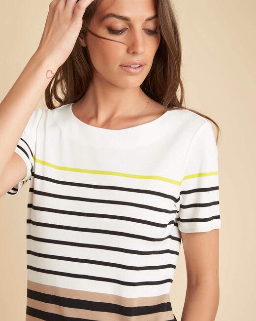 Tee-shirt noir rayé Esayat (1) - 1-2-3
