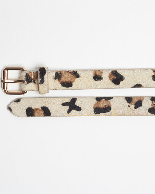 Romel leopard design beige leather belt (2) - 1-2-3