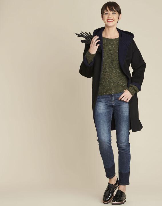 Baroudeuse iridescent khaki mohair pullover (2) - 1-2-3