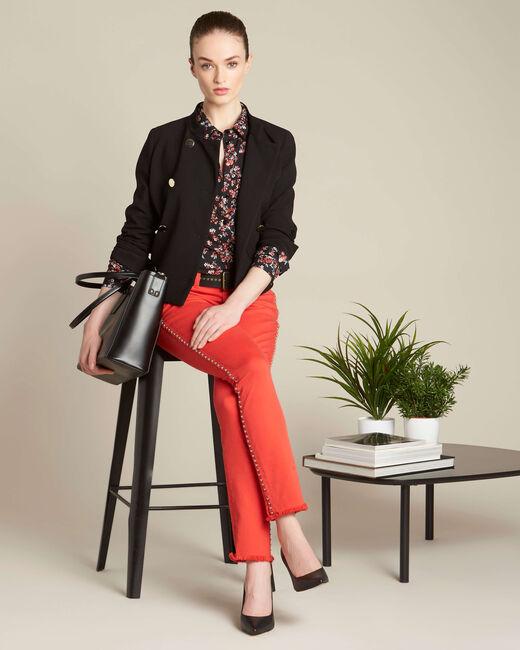 Davis black shirt with floral print (1) - 1-2-3