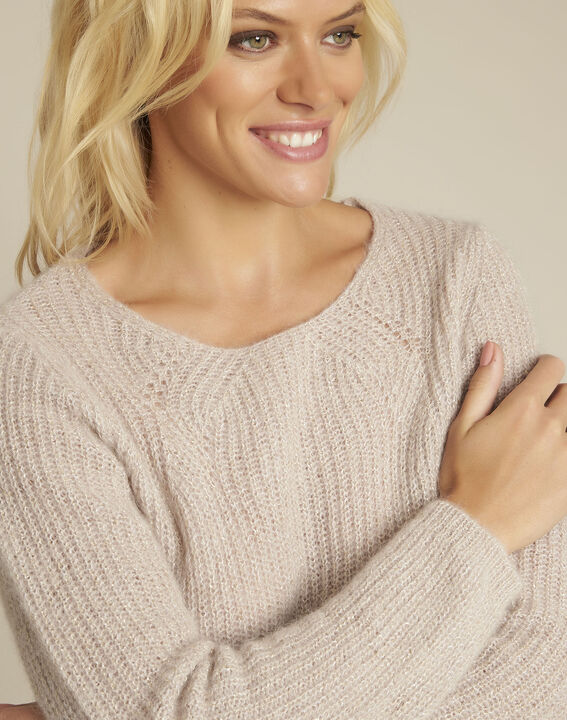 Bello pink mohair mix pullover (3) - Maison 123