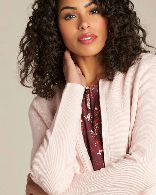 Napoli pale pink zipped ottoman jacket (1) - 1-2-3