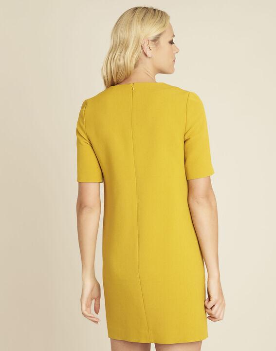 Daisy short yellow dress with studded pockets (4) - 1-2-3