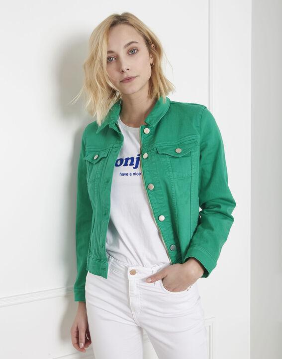 Veste en jean verte Clem (1) - Maison 123