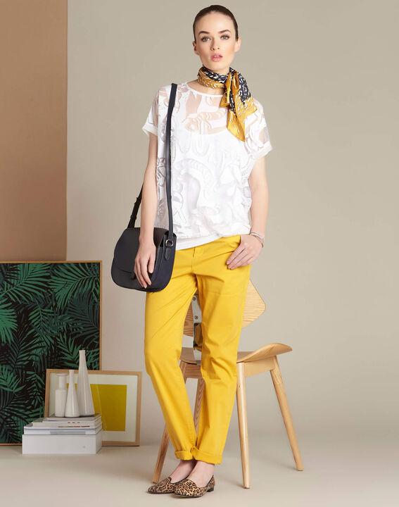 Pantalon jaune chino à revers Victoria (2) - 1-2-3