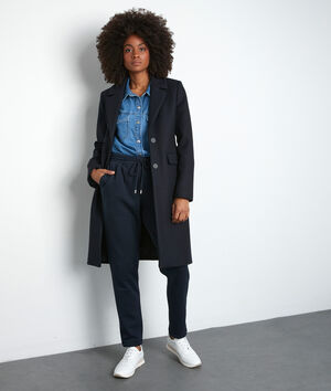 Manteau droit bleu marine Loulou