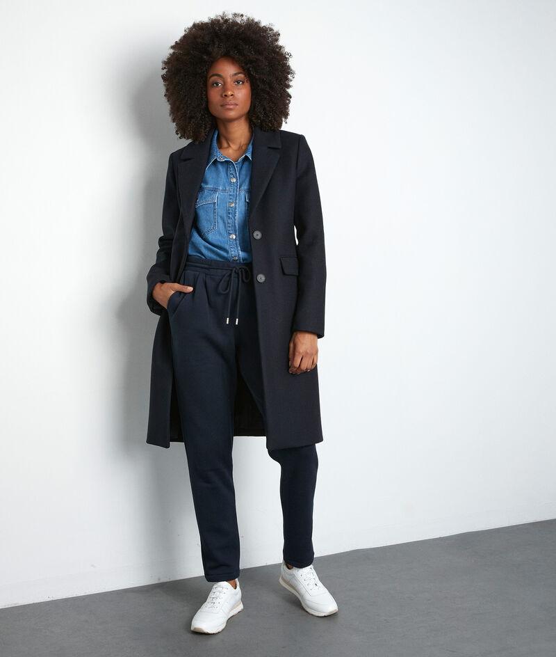 Manteau droit bleu marine Loulou PhotoZ | 1-2-3