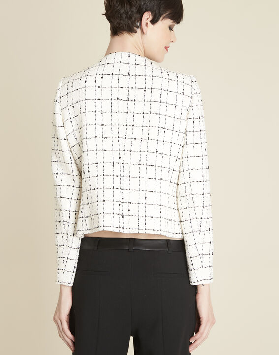 Charme ecru checked jacket (4) - 1-2-3