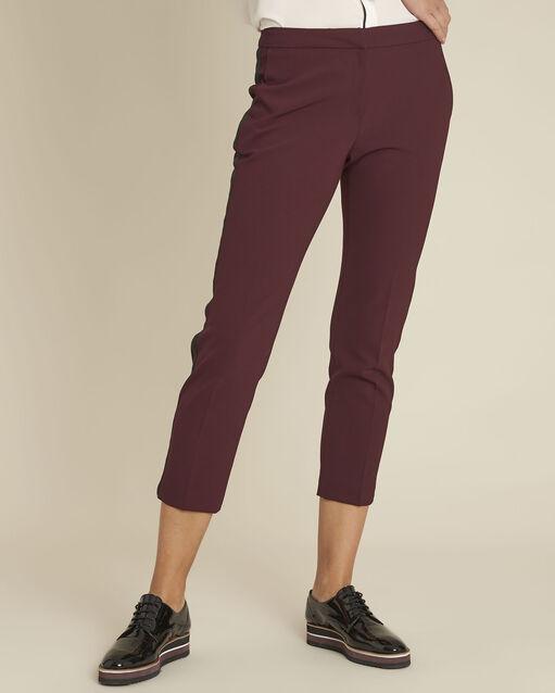 Pantalon bordeaux et sa bande latérale microfibre Suzanne (1) - 1-2-3