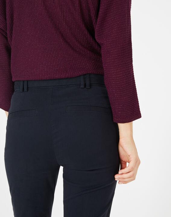 Kloe navy blue 7/8 length trousers (3) - 1-2-3