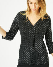 Bruna black polka dot t-shirt black.