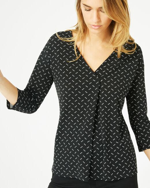 Tee-shirt noir à pois Bruna (2) - 1-2-3