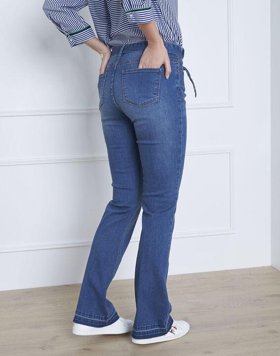 Ausgestellte indigo Jeans mit Gürtel Coralie (4) - Maison 123