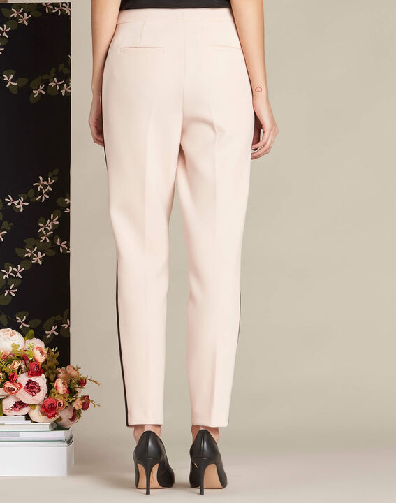 Vadi nude fitted trousers with lateral band (4) - 1-2-3