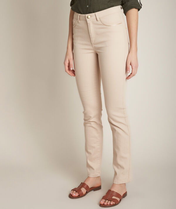 L'Original 123 : jean droit beige Sonia  PhotoZ | 1-2-3