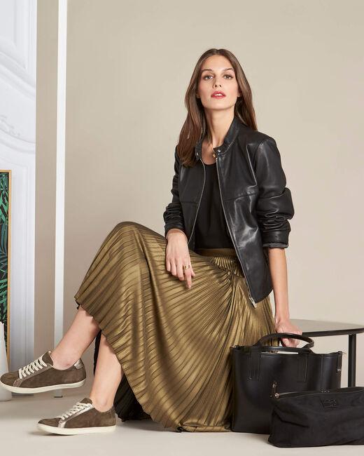 Lore long golden pleated skirt (1) - 1-2-3