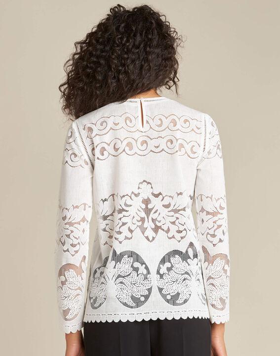 Gabin ecru lace blouse (4) - 1-2-3