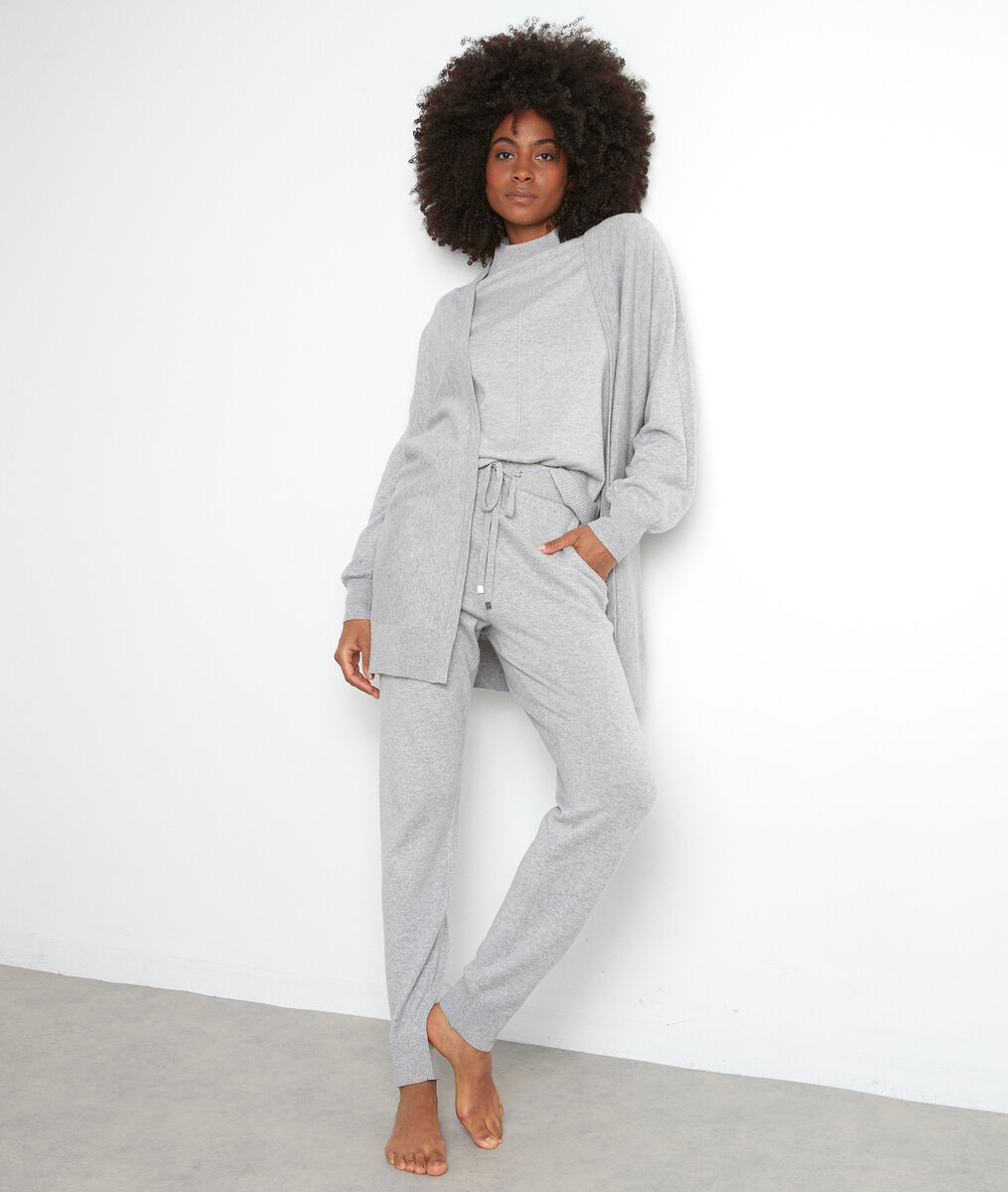Pantalon en maille gris chiné Taylor PhotoZ | 1-2-3
