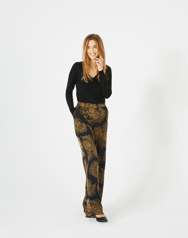 Pantalon imprimé floral kara à