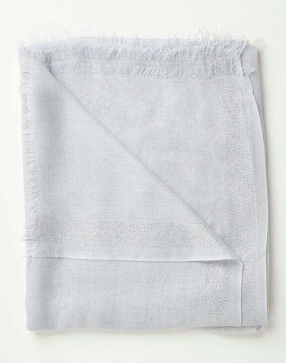 Himmelblaues glänzendes Halstuch aus Viskose Amber PhotoZ | 1-2-3