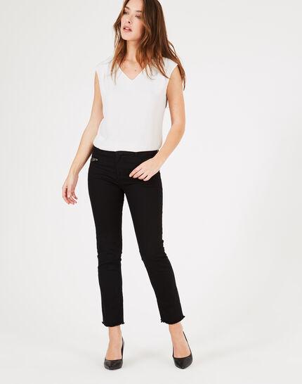 Schwarze Jeans mit Reißverschlüssen Germain (3) - 1-2-3