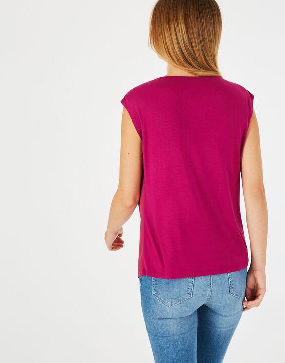 Tee-shirt fuchsia Neptune (4) - 1-2-3