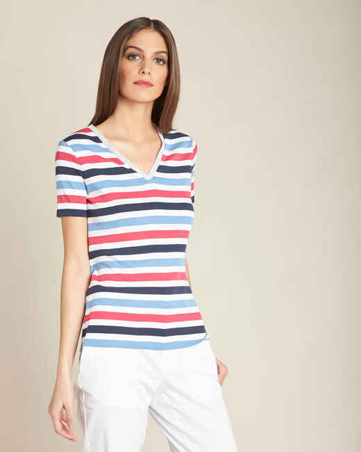 Embruns navy blue striped T-shirt (2) - 1-2-3