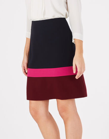 Trico navy blue straight-cut tailored skirt (3) - 1-2-3