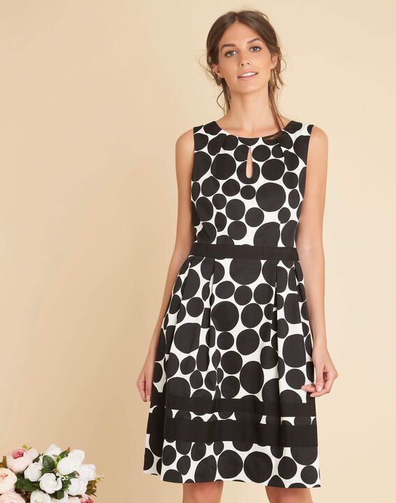 Isis black polka dot printed dress (3) - 1-2-3