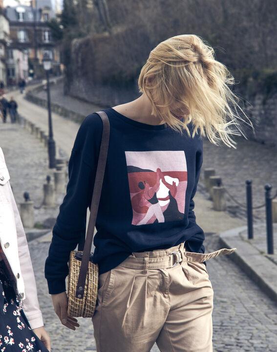 Sweatshirt marineblau Damen Internationaler Frauentag (2) - Maison 123