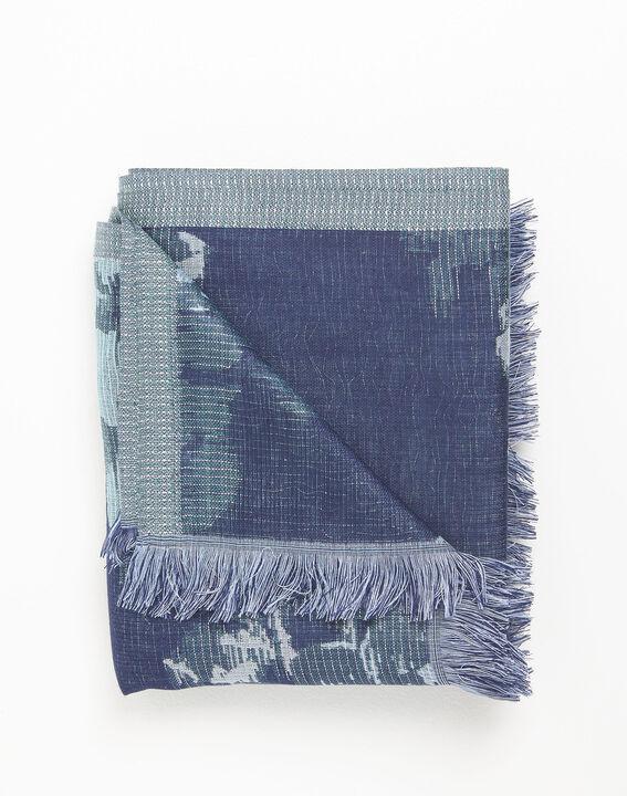 Foulard bleu marine imprimé floral Filante (2) - 1-2-3