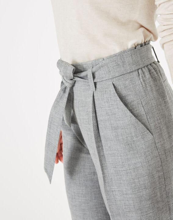 Pantalon gris cropped Kris (3) - 1-2-3