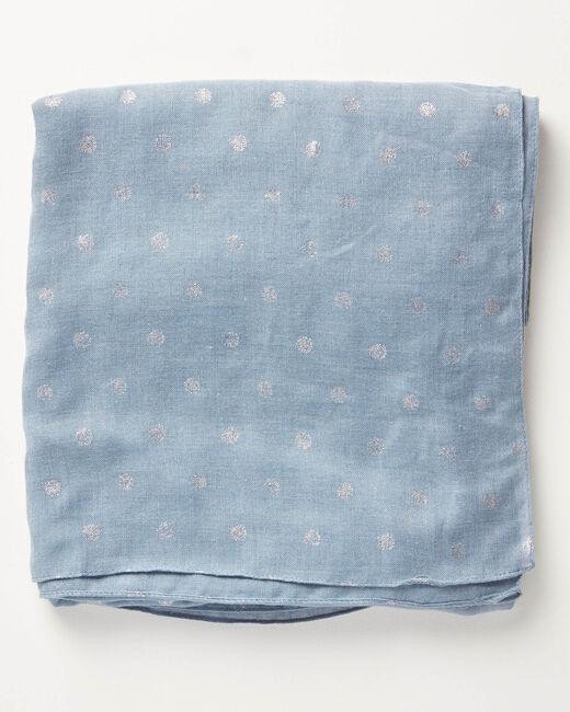 Foulard bleu ciel à pois Arthus (1) - 1-2-3